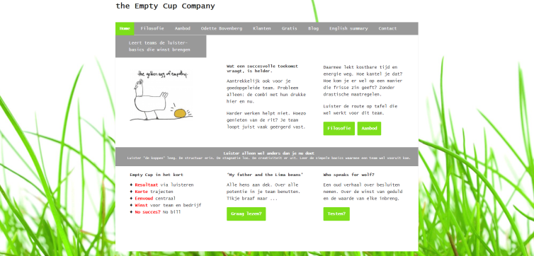 Website The Empty Cup Company